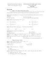 Kiểm tra Toán 11 (đề 004)