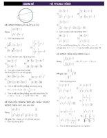 Chuyên đề: Hệ phương trình