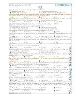 đề luyện thi đại học 2008-2009-đề 6 (có Đ/A-tổng 50 đề)