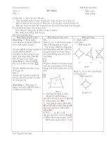 Giáo án hình học phẳng lớp 8