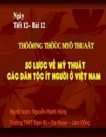 bài 12: sơ lược mỹ thuật các dân tộc ít người ở Việt Nam