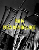 Bài 16: Phân bón hóa học