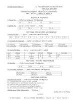 Đáp án đề thi HSG tỉnh lớp 9 Bảng Bmôn tiếng Anh