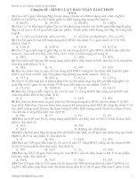 Chuyên đề : Định luật bảo toàn electron