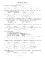 6 Đề Hóa LTDH + Đáp án