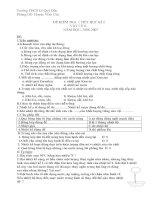 Đề kiểm tra 1 tiết Vật lý 6, 7, 8, 9 học kỳ 2
