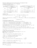 PT bậc hai và ứng dụng của định lý Viet