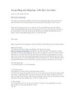 1-2-3 ta cùng tạo Blog Opera