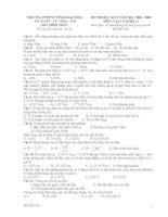 ĐỀ THI HỌC KỲ I- LÝ KHỐI 11
