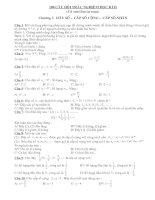 100 Trắc nghiệm Đại số 11 học kỳ II