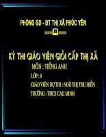 bai thi  GVG lop 8