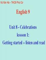 Unit 8 - Celebrations