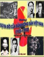 Tiết 21: Phong trào cách mạng 1930-1935 - Sự ra đời của Đảng CSVN
