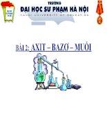 Bài 2: Axit - Bazo - Muối