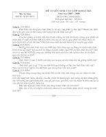 Đáp án & Đề thi tuyển sinh 10 Đại trà Môn Sinh 1