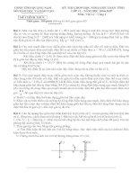 Đề thi HSG lí Vòng 1 lớp 12 NH 06-07 của Q Nam