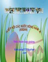 Bài 11. Khu vực Đông Nam Á( Tiết 3)