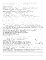 kiểm tra vật lí học kì 1 môn Vật Lí lớp 11