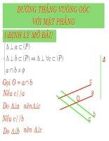 Chương III - Bài 3: Đường thẳng vuông góc với mặt phẳng