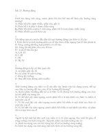 Trac nghiem 11 Nang Cao - Từng bài theo SGK