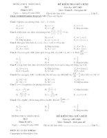 Đề thi KSCL Giữa kỳ II Môn toán 8