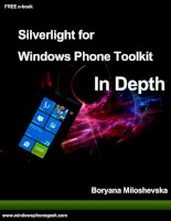 Windows phone toolkit aug 2011 in depth v1
