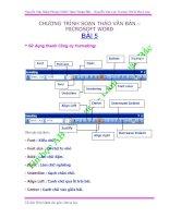 Tài liệu tự học Word 5 dành cho giáo viên