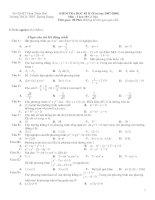 Kiểm tra Toán 10 học kỳ II