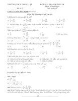 Kiểm tra Số học 6 chương III: Phân số