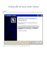 HD sử dụng PM Teamviewer (điều khiển máy tính từ xa)