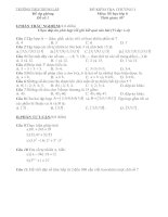 Kiểm tra Số học 6 chương I: Ôn tập và bổ túc về số tự nhiên