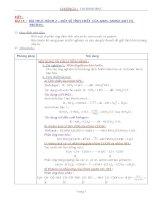 Nội dung bài giảng Hóa 12NC - Bài 15 (GV soạn thêm phần làm việc với HS)