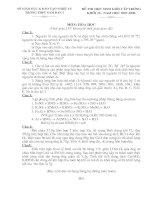 Đề thi HSG trường Hoá - Khối 10
