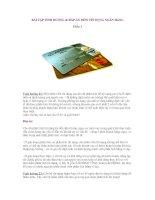 BÀI tập TÌNH HUỐNG & đáp án môn tín DỤNG NGÂN HÀNG