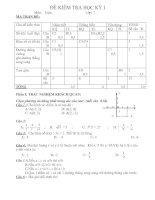 Đề thi Toán HK1 và đáp án lớp 7 (Đề 4)