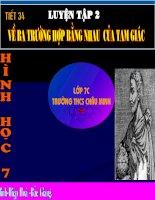 Tiet 34: Luyen tap 2 ( Hinh- Hay)