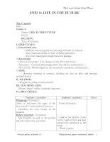 Giáo án Anh CB Unit 8, testC, 9 (chuẩn)