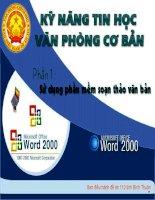 Bài giảng chương trình WORD-Bài 1