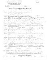 Kiểm tra Hình học 10 chương II