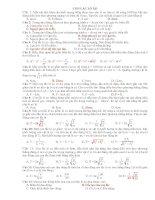 Bài tập trắc nghiệm chương I: Dao động cơ học