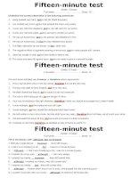 15min test - Key