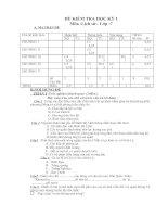 Noel 2008-Đề thi Lịch sử  HK1 lớp 7 kèm đáp án (Đề 12)