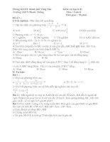 Một số đề ôn tập kiểm tra Toán 8 học kỳ II