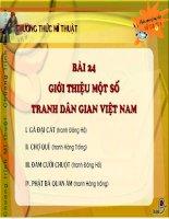 Bài 24: Giới thiệu một số tranh dân gian Việt Nam