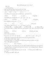 Một số đề ôn tập học kì 2-toán 7
