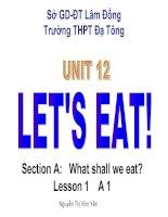 Unit 12: Let''s eat