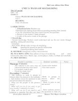 Giáo án Anh 12 CB Unit 3, test A (chuẩn)