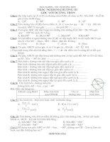 Trắc nghiệm Hình học 9 chương III