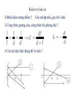 Bài tập: Quang hình học