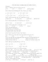 câu hỏi trắc nghiệm toán 8